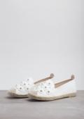 Blossom Espadrilles Flats White