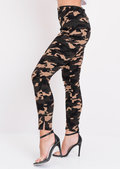 Camouflage Print Skinny Trousers Multi