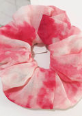Oversized Scrunchie Hair Tie Tie Dye Red