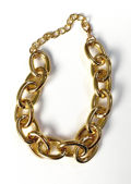 Chunky Oval Shaped Linked Chain Necklace Gold