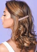 Cluster Beaded Hair Slide Pink