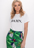 Damn Slogan T-Shirt White
