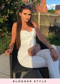 Bow Front Strappy Jumpsuit White