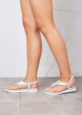 Diamante Embellished Sandals Silver