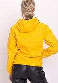 Festival PU Zip Front Hooded Rain Mac Yellow