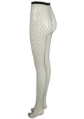 Fishnet Diamond Tights Black