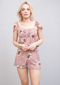 Floral Chiffon Co Ord Set Pink