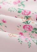 Floral Print Frilled Hem Cupped Hook On Corset Top Beige