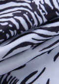 High Waisted Animal Print Flared Legging Trousers Black