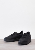 Lace Up Flatform Trainers Black