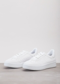 Lace Up Flatform Trainers White