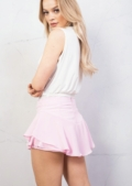 Layered Frill Floaty Mini Shorts Pink