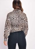 Leopard Print Button Down Shirt Multi