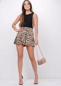 Leopard Print Shorts Multi