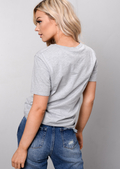 Liberte Slogan Tee T-Shirt Grey