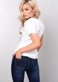 Liberte Slogan T-Shirt White