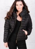 Lightweight Quilted Puffer Jacket Black Coat