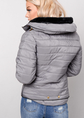 Lightweight Quilted Puffer Padded Jacket Coat Grey