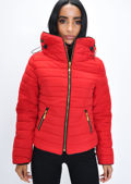 Lightweight Quilted Puffer Padded Jacket Coat Red