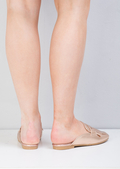 Metallic Tassel Slip On Backless Loafers Rose Gold