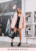 Shaggy Faux Fur Fully Lined Jacket Coat Pink