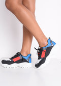 Multi Block Colour Chunky Trainers Black