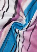 Overlocked Hem Stripe Patterned Open Back Long Sleeve Mini Dress Multi
