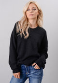 Oversized Tie Back Knitted Jumper Black