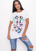 Paint Splatter Graffiti T-Shirt White