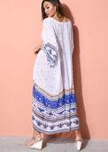 Print Kimono Maxi Cover Up White