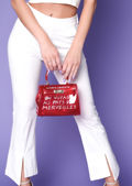 Clear French Tote Bag Red