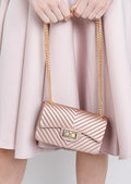 Quilted Gold Chain Mini Clutch Bag Gold