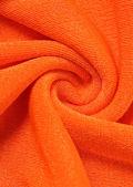 Ruched Front Halterneck Crop Top And Back Split Midi Skirt Co-Ord Set Orange
