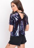 Sequin Crop Top Multi