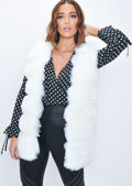 Soft Touch Faux Fur Fully Lined Gilet White