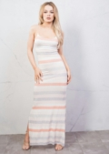 Stripe Jersey Maxi Dress Pink