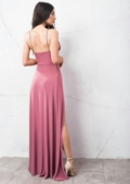 Super Thigh High Splits Maxi Dress With Bodysuit Pink