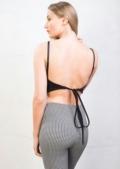 Tie Back Cami Crop Top Black