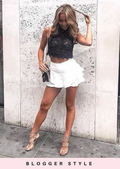 Tiered Floaty Frill Mini Skirt White