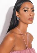 Triple Hoop Small Earrings Silver