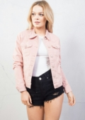Trucker Denim Jacket Pink