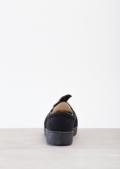 TwistFront Slip On Pumps Sneaker Suede Black