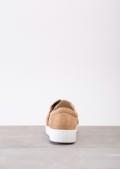 TwistFront Slip On Pumps Sneaker Suede Brown