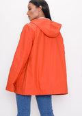 Waterproof Hooded Festival Rain Mac Coat Orange