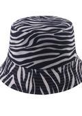 Zebra Print Inside Out Bucket Hat Black