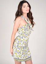 Jaca Keyhole Floral Dress