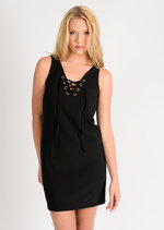 Kimmy Lace Up Shift Dress