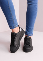 Flatform Shell Toe Trainers Black