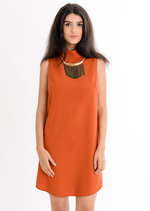 Katrina High Neck Shift Dress Orange