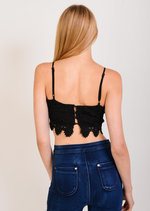 Susie Black Lace Crop Top